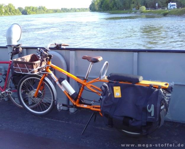 Rückweg von der Spezi mit Yuba-Rad