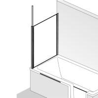 HSK Premium Softcube Seitenwand zu Badewannenaufsatz ...