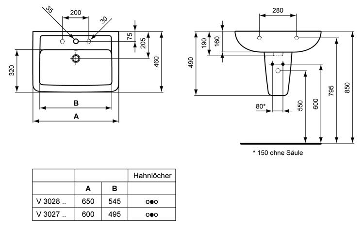 Ideal Standard Eurovit Plus Waschtisch Art V302801  MEGABAD