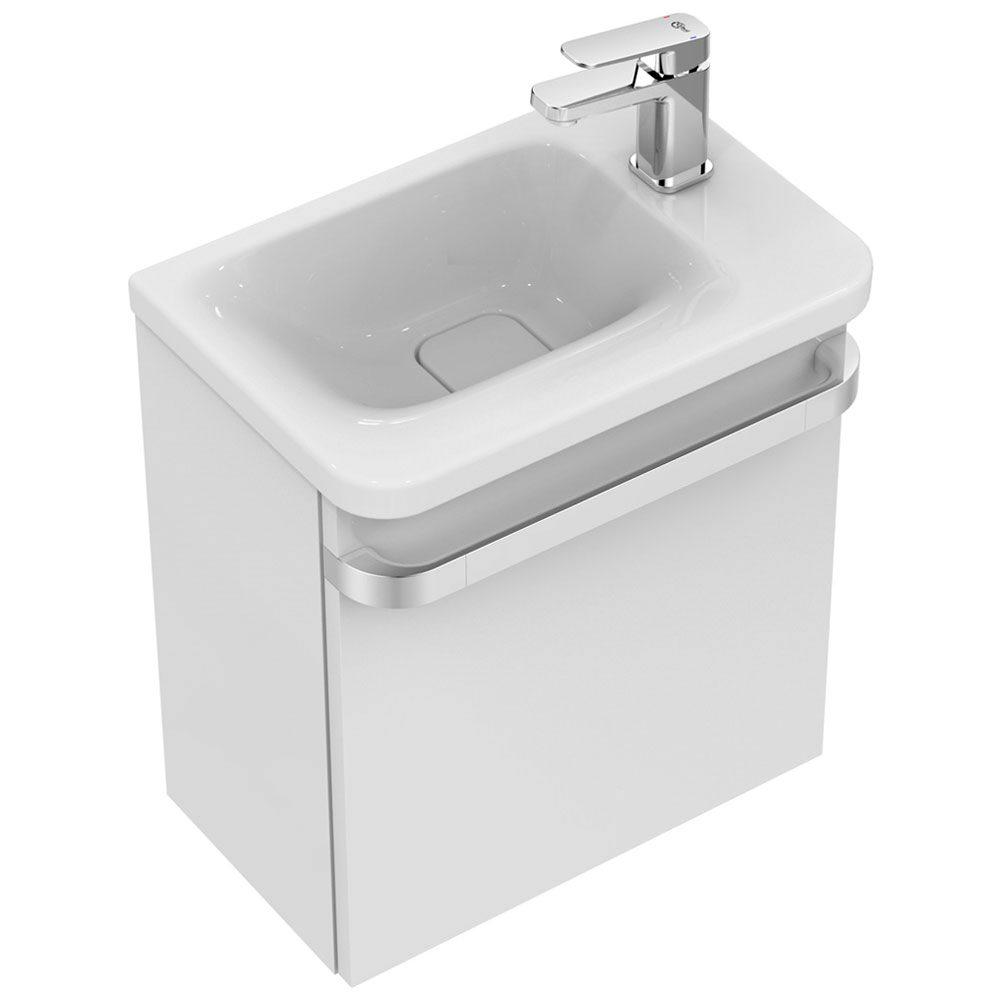 Ideal Standard Tonic II WaschtischUnterschrank 45 cm fr Handwaschbecken Ablage rechts R4306WG  MEGABAD