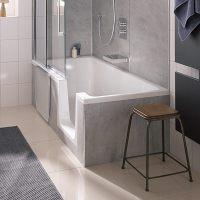 HSK Dusch-Badewanne Dobla 160 cm Einstieg rechts 540161 ...