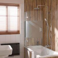 HSK Premium Softcube Badewannenaufsatz pendelbar 2-teilig ...