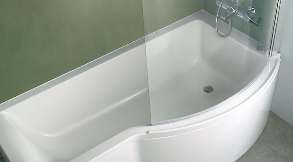 Ideal Standard Badewannen mit Duschzone  MEGABAD