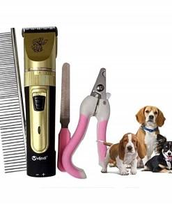 Kit de Aseo para Mascotas Peine Cortadora de Uñas Pulidor Cortadora de Pelo