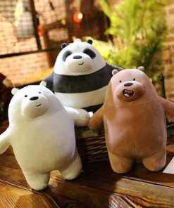 Peluches Escandalosos Pequeños Panda Polar y Pardo