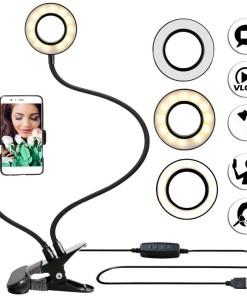 Aro de luz led flexbile anillo profesional con celular Mega Bahía