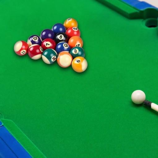 Set de bolas para mesa de billar 16 bolas con mesa de billar y taco mega bahía