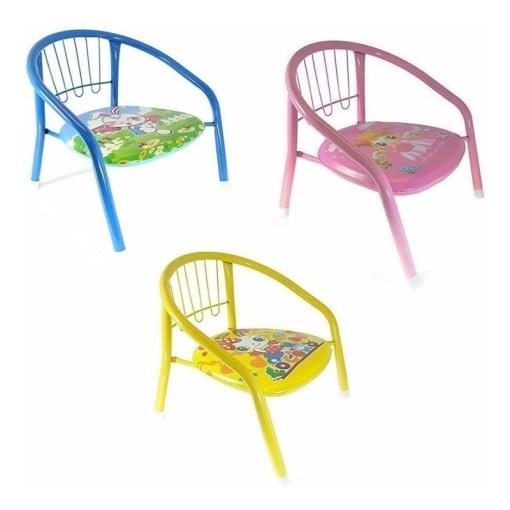 Silla metálica para niño varios colores tres sillas mega bahía