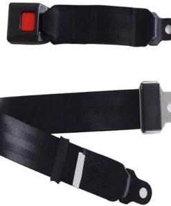 Cinturón de seguridad de dos puntos color negro mega bahía