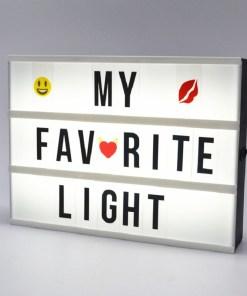 letrero armable con letras led personalizadas my favorite light mega bahía