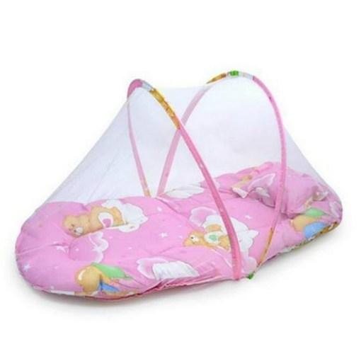 Mosquitero para bebé plegable y portátil toldillos de color rosado mega bahía