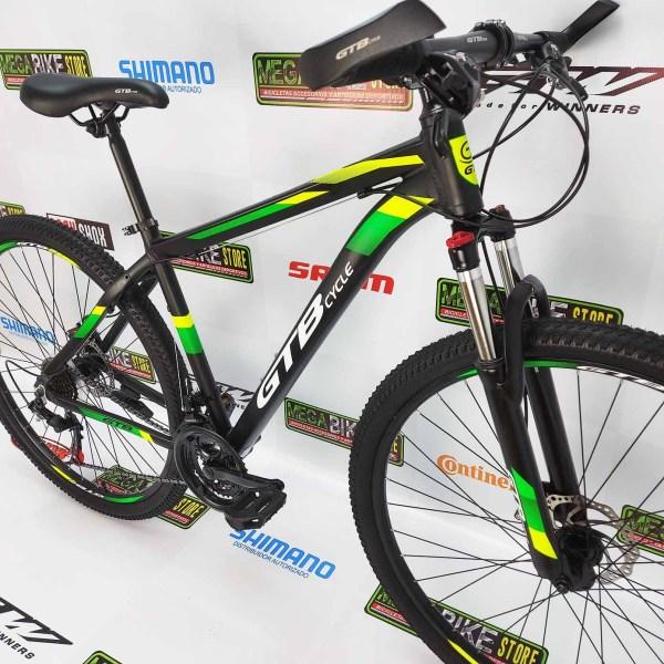 Bicicleta-guayaquil-mtb-montañera-talla-mega-bike-store-bike-shimano-gtb-cycle-aluminio-aro-negro-verde-aro-29