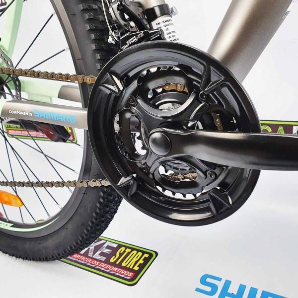 Bicicleta-guayaquil-mtb-montañera-talla-mega-bike-store-bike-shimano-igm-cross-country-verde-gris-aro27.5-aluminio