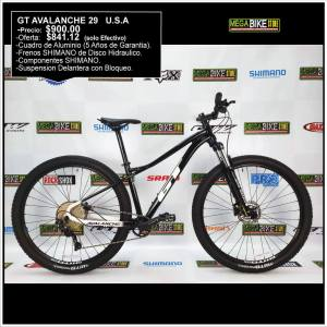 Bicicleta-guayaquil-mtb-montañera-talla-mega-bike-store-bike-shimano-gt-avalanche-aro-29-aluminio-negro-blanco.