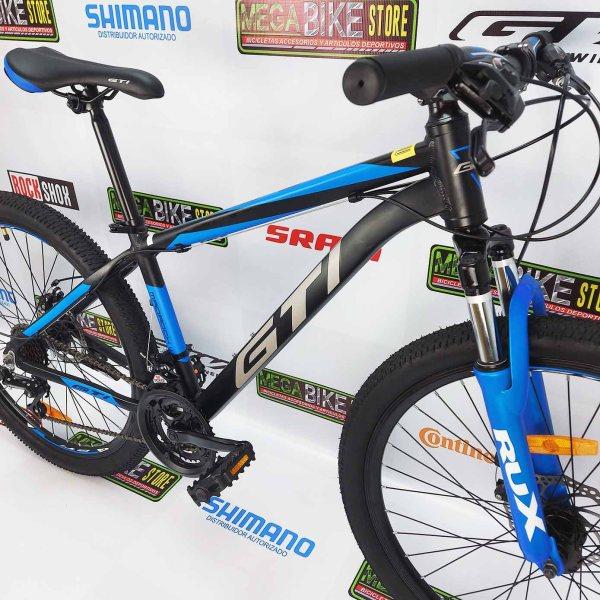 Bicicleta-guayaquil-mtb-montañera-talla-mega-bike-store-bike-shimano-gti-madrock-aluminio-aro-26-negro-azul