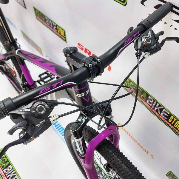 Bicicleta-guayaquil-mtb-montañera-talla-mega-bike-store-bike-shimano-gti-madrock-aro-26-aluminio-negro-morado