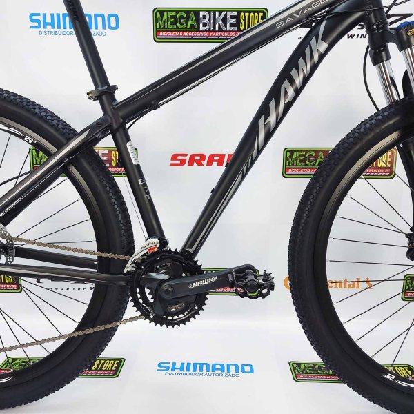 Bicicleta-guayaquil-mtb-montañera-talla-mega-bike-store-bike-shimano-hawk-savage-aro-29-aluminio-negro-gris