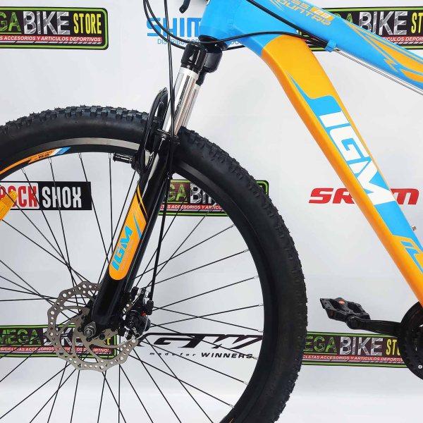 Bicicleta-guayaquil-mtb-montañera-talla-mega-bike-store-bike-shimano-igm-cross-country-aro-29-aluminio-naranja-azul.