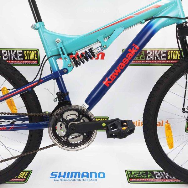 Bicicleta-guayaquil-mtb-montañera-talla-mega-bike-store-bike-shimano-kawasaki-jr-ninja-aro-24-acero-azul-turqueza.