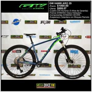 Bicicleta-guayaquil-mtb-montañera-talla-mega-bike-store-bike-shimano-gw-hawk-aro-29-aluminio-verde-azul.