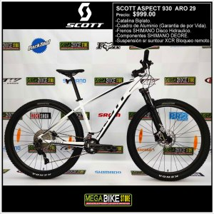Bicicleta-guayaquil-mtb-montañera-talla-mega-bike-store-bike-shimano-scott-aspect-aro-29-aluminio-blanco-negro.