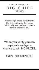 How to verify Big Chief Extracts