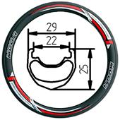 12C+ Tubeless push bike rim