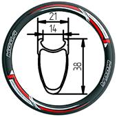 406-38 clincher rim 20inch mini velo folding bike rim