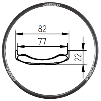 26C-82, 26 inch, Tubeless Clincher MTB rim