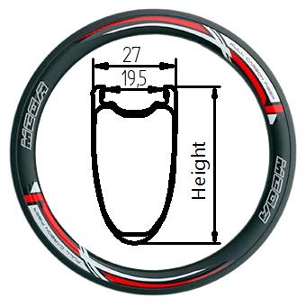 27C+ tubeless clincher rim