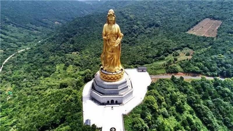 Guanyin De Taihu Guanyin En El Templo Guanyin De Xishan