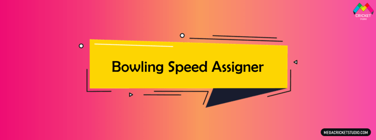 Bowling Speed Assigner for EA Sports Cricket 07