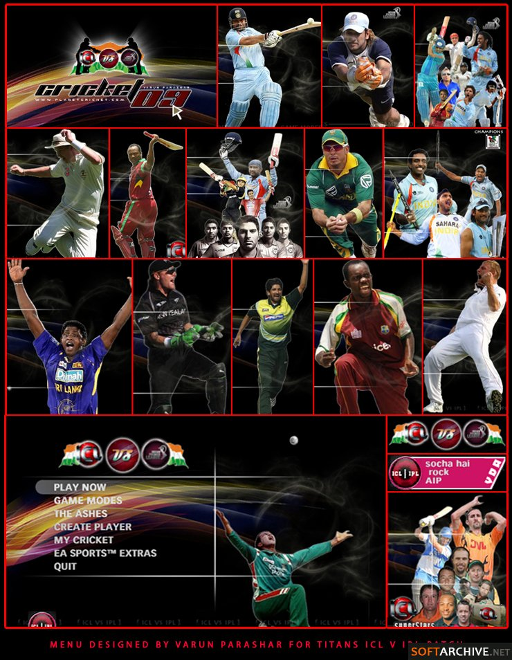 CRICKET 2009 IPL VS ICL Patch for EA Cricket 07