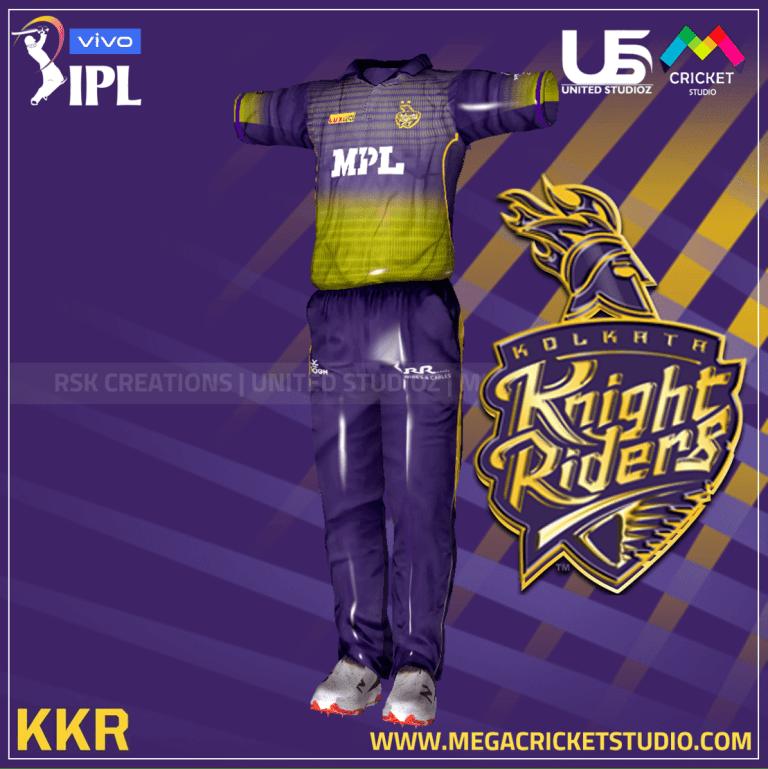 Kolkata Knight Riders VIVO IPL 2021 Kit for EA Sports Cricket 07