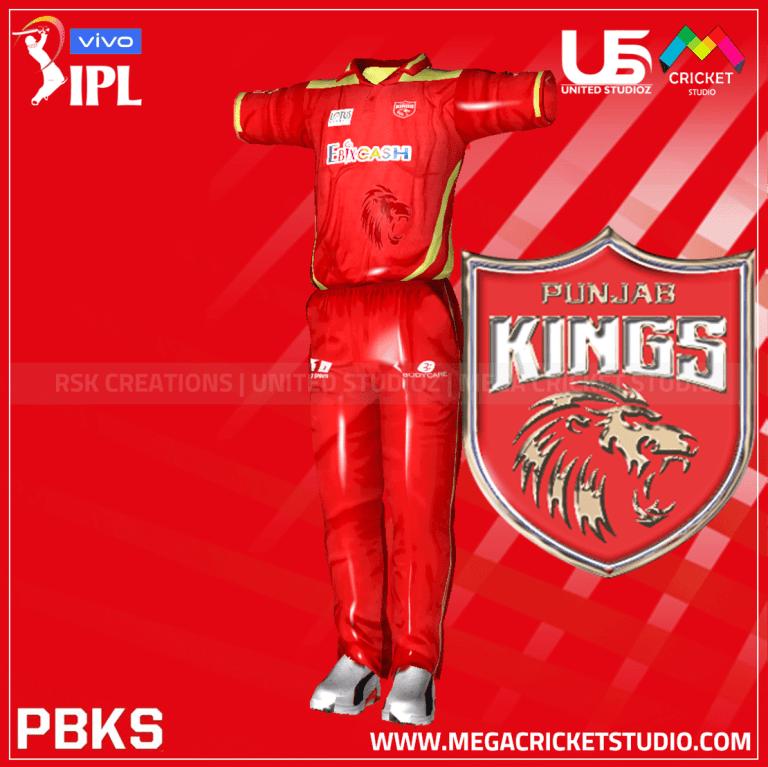 Punjab Kings VIVO IPL 2021 Kit for EA Sports Cricket 07