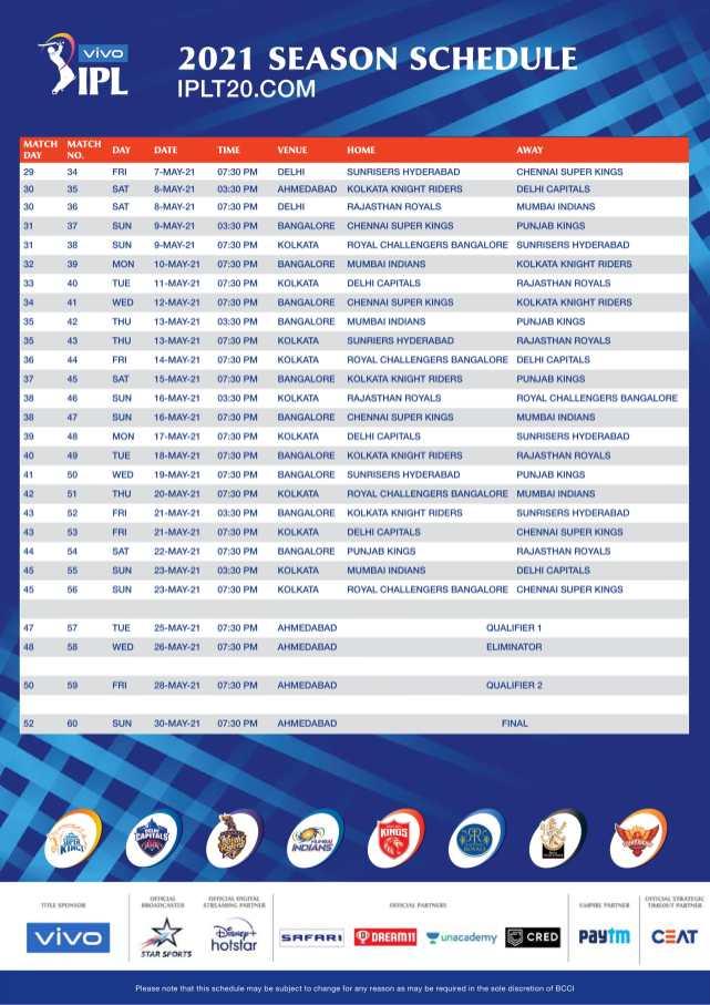 vivo ipl 2021 schedule download