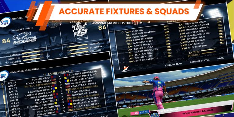 accurate squads and fixtures ipl 2021 apna mantra patch megacricketstudio.com ipl 2021 patch ea cricket 07