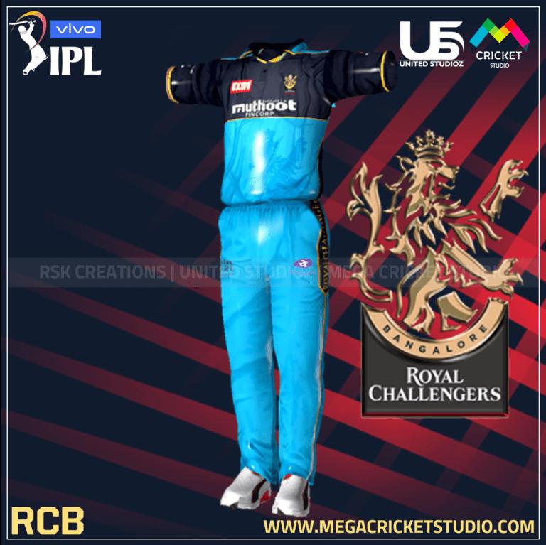 Royal Challengers Bangalore VIVO IPL 2021 Kit for EA Sports Cricket 07