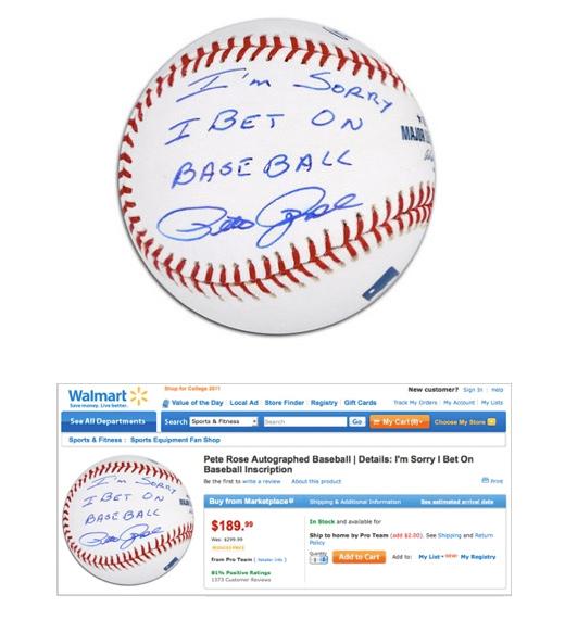 "Pete Rose ""I'm Sorry"" Baseball"
