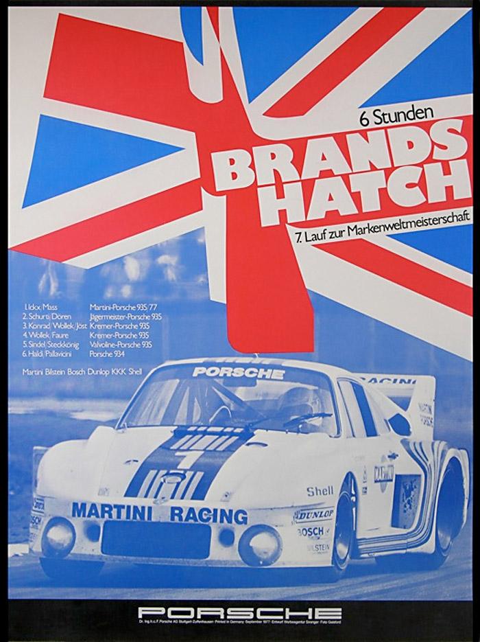 PORSCHE RACE CAR BRANDS HATCH (1975-80) :: Master Posters