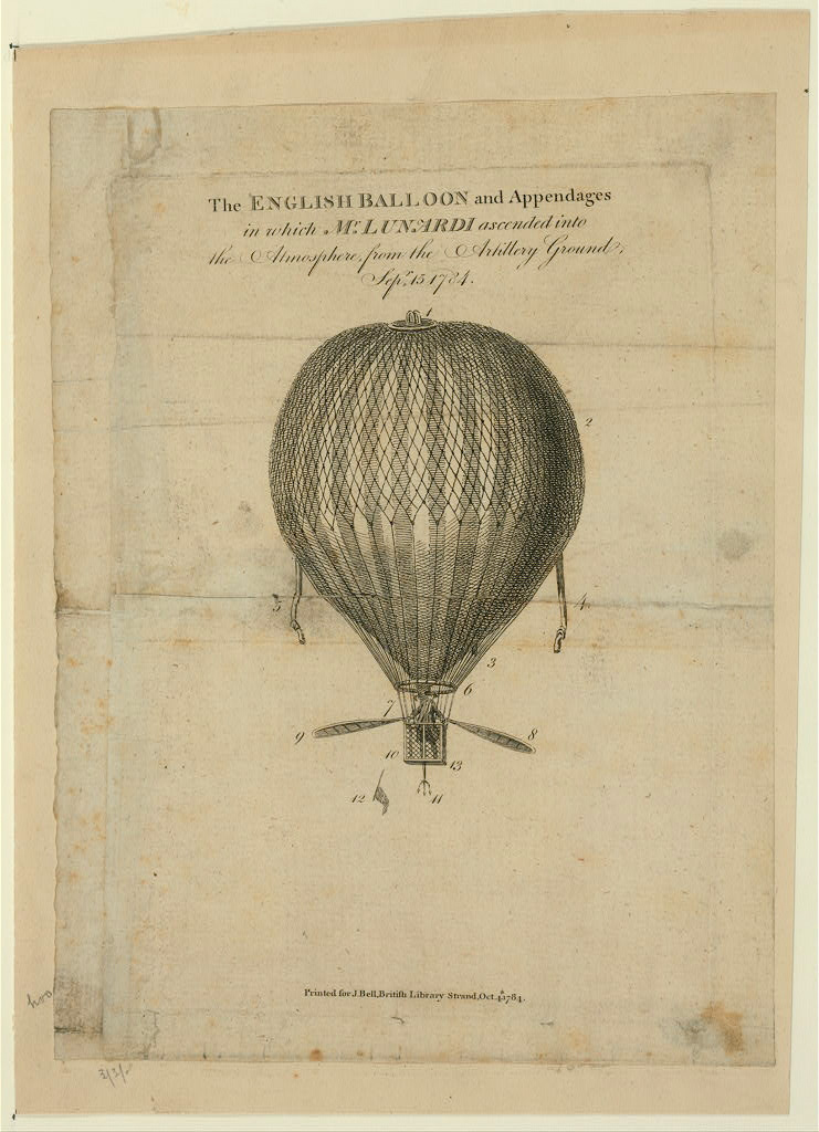 First Balloon Ascent In England :: Etching :: 1794