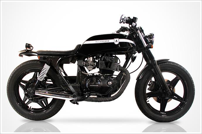 Ellaspede Customs' 1980 Honda CB250N :: via Piperburn