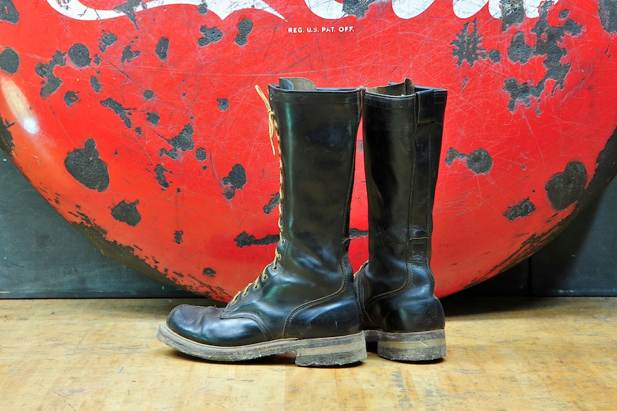 Vintage Leather Sears Tree Climbing Boots