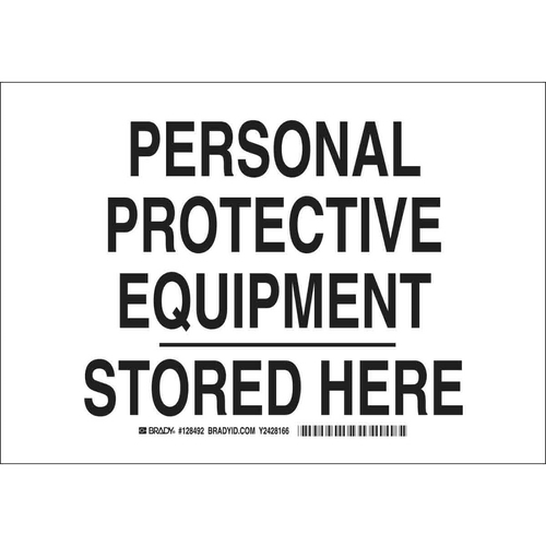 Buy Brady 128495, Protective Equipment Stored Here Sign