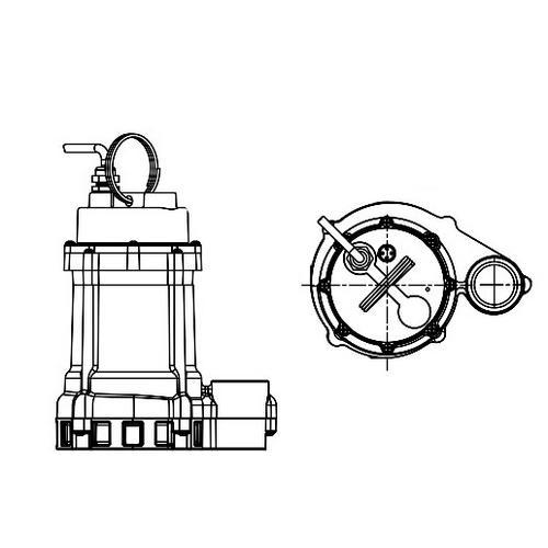 Buy Little Giant 511610, HT-10EN-CIM Manual Effluent Pump