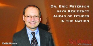 Dr. Eric Peterson says Residency Ahead of Others in the Nation