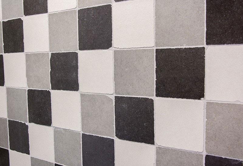 Getrommelde tegels 15 x 15 cm zwart wit grijs mix  Megadump