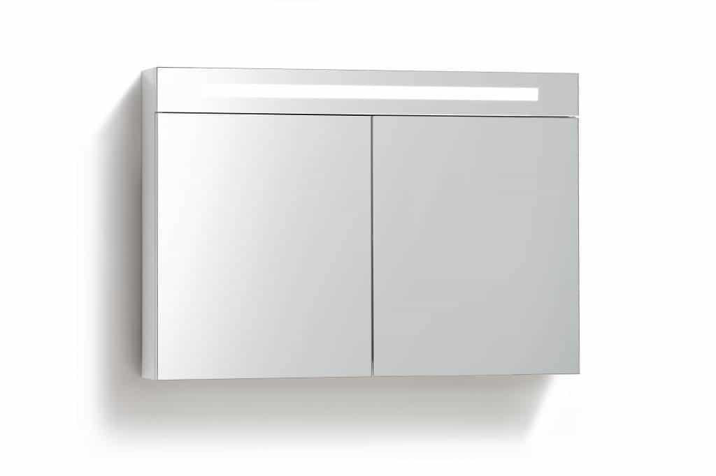 Spiegelkast 80 Met Tl Verlichting Stopcontact En Schakelaar In 5 Kleuren