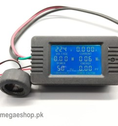 6 in 1 ac 100a digital voltmeter ammeter energy power frequency factor current panel meter detector [ 1000 x 1000 Pixel ]