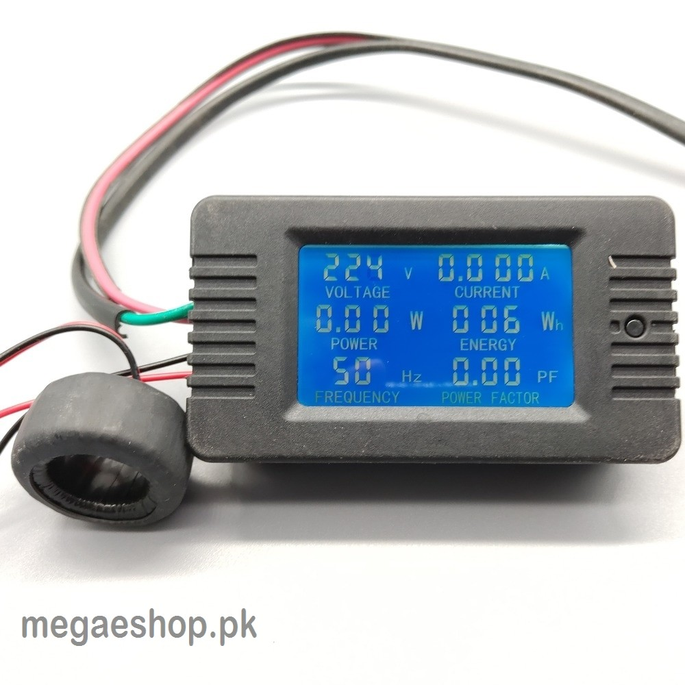 hight resolution of 6 in 1 ac 100a digital voltmeter ammeter energy power frequency factor current panel meter detector